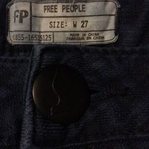 Free People Navy Blue Stretch Skinny Jeans